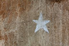 Old brown cement plaster wall background Stock Photo