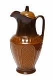 Old brown ceramic jug Stock Photos