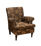 Old brown chair stock images