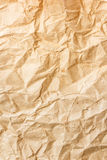Old brown crumpled paper Royalty Free Stock Photo