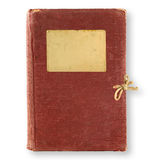 Old, brown diary Stock Images