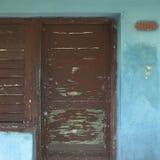 Old brown door Stock Photos