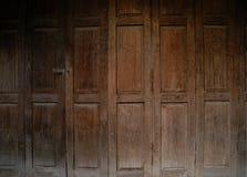 Old brown door Stock Images