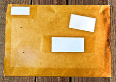 The Old brown envelope Stock Photography