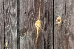 Old brown fence with nails Stock Photos