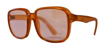 Old brown glasses. Stock Images
