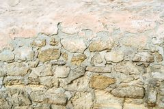 Old brown and gray cobblestone. Wall texture Royalty Free Stock Image