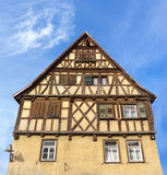 Old brown half-timbered house Stock Image