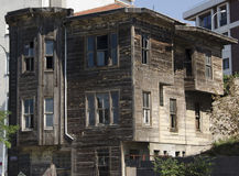 Old brown historical house. Harem Istanbul Turkey old houses Royalty Free Stock Photography