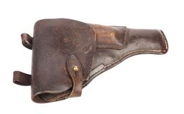 Old brown holster. Royalty Free Stock Image