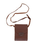 Old brown leather bag or case Royalty Free Stock Images