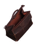 Old brown leather case Royalty Free Stock Photos