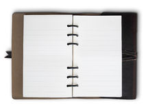 Old Brown Leather cover notebook Royalty Free Stock Photo