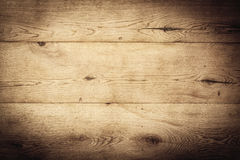 Old brown oak background. With vignette. Blank and empty rustic board with copyspace for your country concept Royalty Free Stock Photography