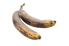Old brown over ripened bananas Royalty Free Stock Photo
