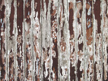 Old brown paint coming off wooden boards Royalty Free Stock Photos
