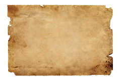 Old Brown Paper Stock Image