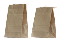 Old brown paper bag Stock Photo