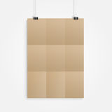Old brown paper with clip Royalty Free Stock Images