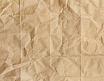Old brown paper crumpled Stock Photography