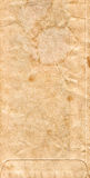 Old Brown Paper Envelope Background with Stains Royalty Free Stock Photography