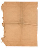 Old Brown Paper on Isolated White Background Royalty Free Stock Image