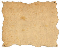 Old Brown Paper with Nails Royalty Free Stock Photos