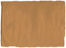 Old brown paper rip Royalty Free Stock Images