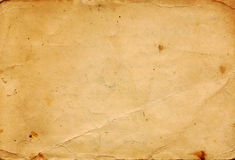 Old Brown Paper from 1960s Royalty Free Stock Photo