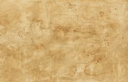 Old brown paper texture with stains Royalty Free Stock Images