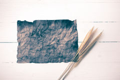 Old brown paper and wheat vintage style Royalty Free Stock Photography