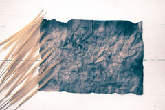 Old brown paper and wheat vintage style Royalty Free Stock Photo