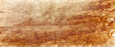 Old brown parchment paper background with yellowed vintage grunge texture borders and off white light center with distressed faded