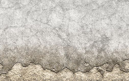 Old brown plastered crumble texture of aged wall Royalty Free Stock Photos