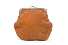 Old brown purse Stock Image