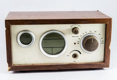 Old brown radio in asia. stock photos