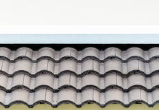 Old Brown Roof. The Old Brown Roof on white blackground Royalty Free Stock Images