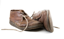 Old Brown shoes Royalty Free Stock Photos