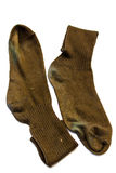 Two old  Brown sock Royalty Free Stock Photo