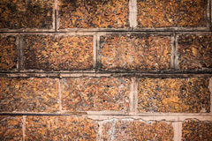 Old brown stone wall Royalty Free Stock Image