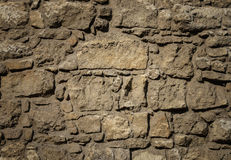 Old brown stones wall pattern Stock Photo