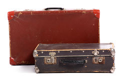 Old brown suitcase Stock Photography