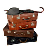 Old brown suitcase Stock Image