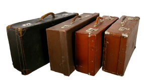 Old brown suitcase Royalty Free Stock Photos