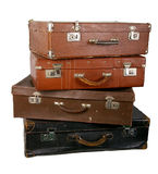 Old brown suitcase Royalty Free Stock Image