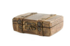 Old brown suitcase Royalty Free Stock Images