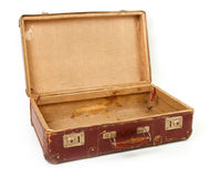 Old brown suitcase for travel Royalty Free Stock Photography