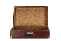Old brown suitcase for travel Stock Images