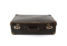 Old brown suitcase for travel Stock Photos
