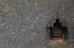 Old brown tile roof with dormer Stock Photography